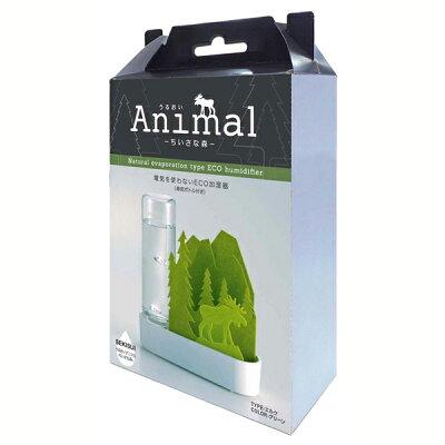 自然気化式エコ加湿器 うるおいアニマル ちいさな森 エルク グリーン ULT-EL-GR(1コ入)