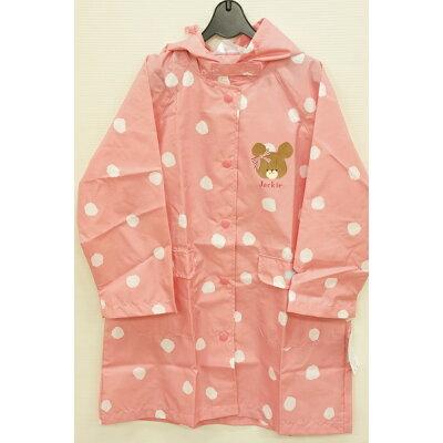 くまのがっこう キッズレインコート かっぱ 子供用 傘 レイングッズ サイズ  ピンク 121100