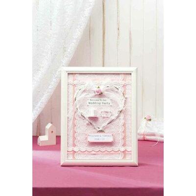 パナミ ウェディング 天使のウェルカムボード ピンク 作品 完成品 HW-19 1061352