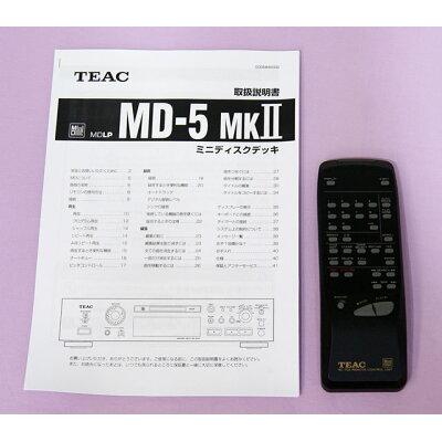 TEAC MDプレーヤー MD-5MK2