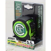 高儀 ASSIST コンパクトコンベックス 25mm幅×5.5m 尺目 TKG-1202083