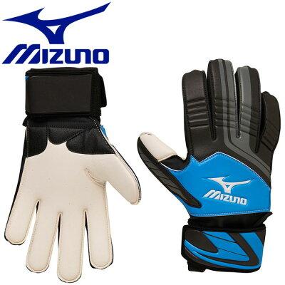 ミズノ MIZUNO サッカー キーパーグラブ ブラック×ブルー×グレー P3JEG501 09