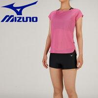 ミズノ MIZUNO レディース フィットネス水着 アクアフィットネス用 セパレーツ ピンク N2JG9383 64