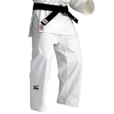 22JP5A15015B ミズノ 選手用 柔道衣 新規格 パンツのみ ホワイト・サイズ:B体・5B号 全柔連・IJF新規格基準モデル