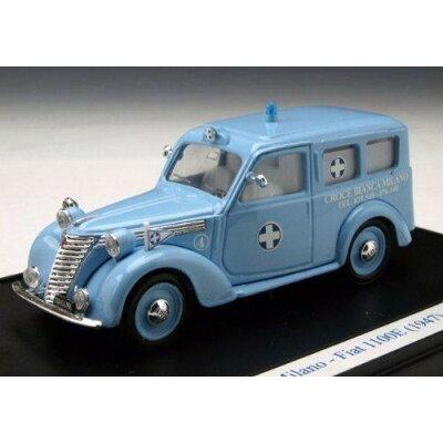BRUMM/ブルム フィアット 1100E ミラノ白十字 1947 ライトブルー 1/43スケール S06-19 1329296