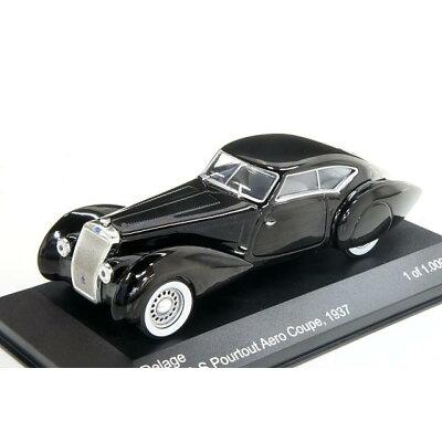ミニカー 1/43 ホワイトボックス WHITEBOX WB183ドラージュ D8 120-S Pourtout エアロクーペ 1937 ブラック
