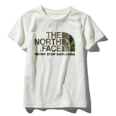 THE NORTH FACEザ・ノースフェイスS/S CAMO LOGO TEEショートスリーブ カモ ロゴ ティーKid's 130 WホワイトNTJ31992