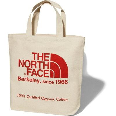 ノースフェイス THE NORTH FACE アウトドア TNFオーガニックコットントート TNF Organic Cotton Tote ナチュラル×TNFレッド NM81908 TR