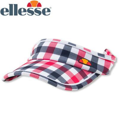 エレッセ Ellesse レディース テニス バイザー ゲームバイザー EAC1900L SC サンキストコーラルチェック