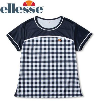 エレッセ テニス ショートスリーブ チームクルー Tシャツ レディース ETS0911L-NC