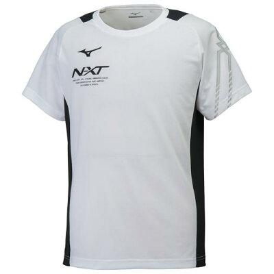 ミズノ MIZUNO メンズ スポーツウェア NXT Tシャツ ホワイト×ブラック 32JA802001