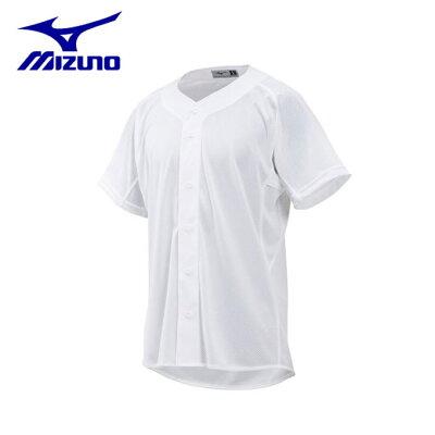 ミズノ ガチメッシュシャツ 野球練習用ユニフォームシャツ フルオープン型 12JC8F6801