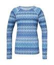 Phenix フェニックス トレッキング アウトドア 長袖Tシャツ ETHNO FLOWER L/S レディース BL PH722TL75BL