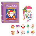 (クリスマス)ウィンターセレクション ブック型ピースフルシールブックサンタ3