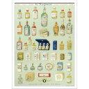 アートパネル ポスター 香水 コラージュ レトロ クラシック カフェ アンティーク風 アートフレーム パリ ヨーロッパ アートポスター 壁掛け インテリア
