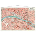 PARIS MAP タペストリー TAPESTRY IPM-52895 美工社 152×100cm 地図 ヴィンテージインテリア通販