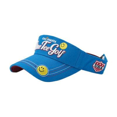 VS-001 BL ブルーティーゴルフ コットンバイザー スマイル ブルー・サイズ:フリー 目安:57~59cm BLUE TEE GOLF