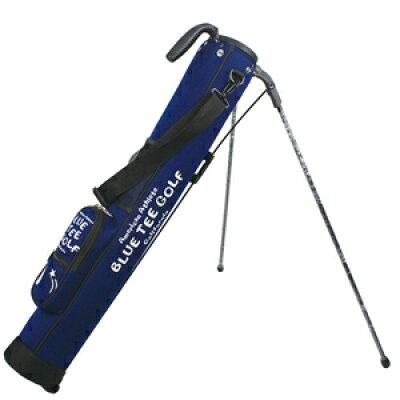 ブルーティーゴルフ BLUE TEE GOLF ストレッチ セルフスタンドバッグ フード付き ネイビー CC001