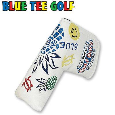 ブルーティーゴルフ 2019 パイナップル バージョン パターカバー ピン ブレード型 単品 ホワイト 19SS Blue Tee Golf ゴルフヘッドカバー PT用 パター用 ブレード型