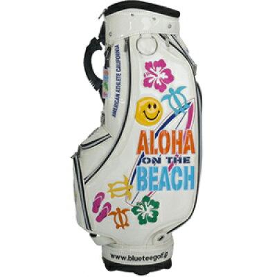 ブルーティーゴルフ BLUE TEE GOLF カートキャディバッグ アロハ オン ザ ビーチ ALOHA ON THE BEACH ホワイト CB009