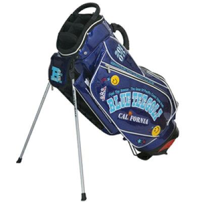 ブルーティーゴルフ BLUE TEE GOLF エナメル スタンドキャディバッグ ネイビー CB012