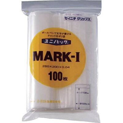 ユニパック マーク チャック付ポリ袋 MARK-J 100枚入 AYN0908