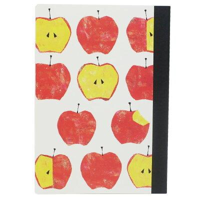 横罫 ノート Tomo Hayashi A5 ミニノート果 アップル クローズピン ガーリー イラスト 文具 プチギフトグッズ