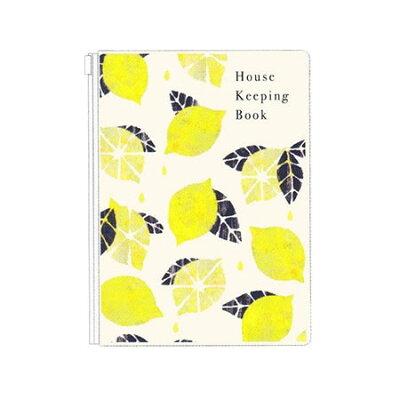 Tomo Hayashi A5 ファスナー ポケット 家計簿 ハウスキーピング ノート果 レモン クローズピン ガーリー イラスト ママZAKKA