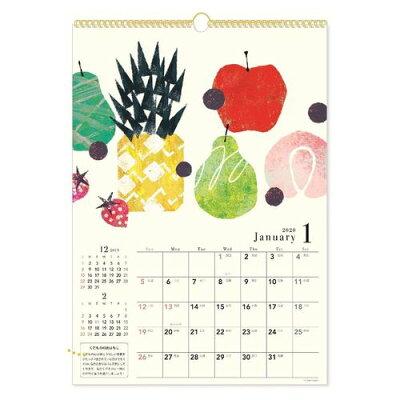 Tomo Hayashi 壁掛けカレンダー 2020年 カレンダー果 クローズピン 29.7×42cmガーリー インテリア