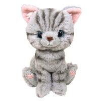 (NekoMon No.15 掲載商品) Kitten(キトン) ぬいぐるみ アメリカンショートヘアーGY(ねこ)