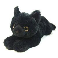 猫ぬいぐるみMサイズ「ひざねこ(ブラック)」