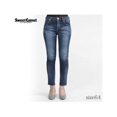 SweetCamel/スウィートキャメル レディース ナローストレートデニム パンツ R4 濃色USED/サイズ64 SC5322