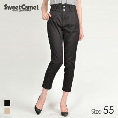 sweetcamel/スウィートキャメル ツータック デザインハイウエスト スキニーパンツ 08=ブラック/サイズ55 SA9411
