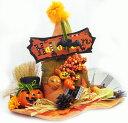 ハロウィン装飾 飾り付け ハロウィンオレンジウィッチハット型アレンジ L 高さ30cm