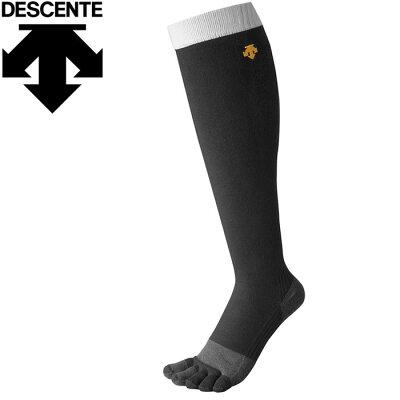 DESCENTE/デサント C878-BLK 滑り止め付き 指カラーソックス ブラック