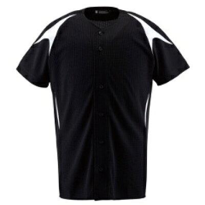 デサント ユニフォームシャツ カラーコンビネーションシャツ(フルオープン) L DB-1013 ブラック×Sホワイト