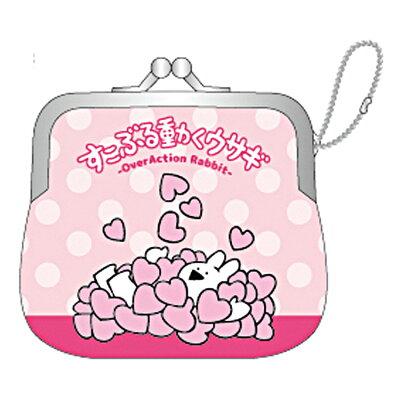 ネオプレーン ミニ がまぐち 小銭入れ すこぶる動くウサギ ハート LINEスタンプ ケイカンパニー コインケース ミニポーチ 通販
