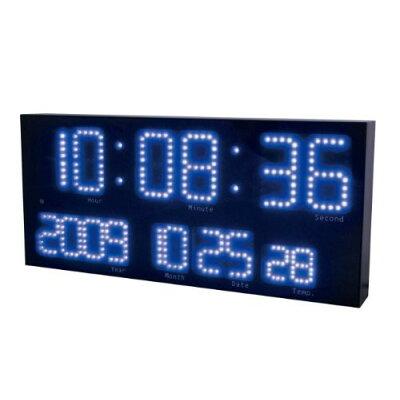 LED-101BU 誠時 電波置掛兼用時計 ブルー LEDアクラート LED101BU