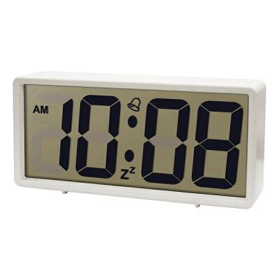 LCD-008WH 誠時 目覚まし時計 ホワイト ジェイド