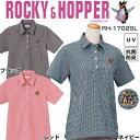 ロッキーアンドホッパー Rocky&Hopper レディース 半袖 チェック柄 ポロシャツ RH-1702SL ブラック
