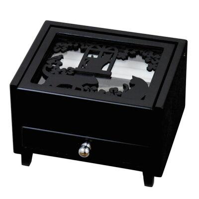 黒猫シリーズ アクセサリーボックス G-1481BK (ねこ)