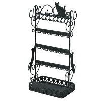 黒猫 アクセサリースタンド (アクセサリーホルダー) M インテリア用品
