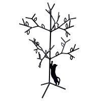 アクセサリー 収納 黒猫 アクセサリースタンド S ツリー ねこ ヂャンティ商会 16.5×26.5×18cm