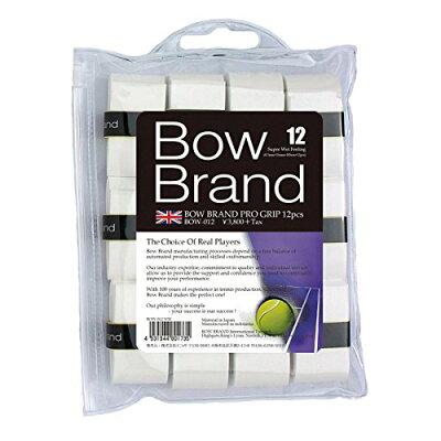 BOWBRAND ボウブランドオーバーグリップテープ12本巻 ウェットタイプ ホワイト BOW012-WH BOW012-WH
