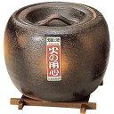 TOMINAGA/富永陶園 火消壷 板付 灰釉 小 00-2208 陶器製 φ175