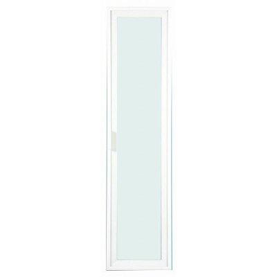 ガラス扉(カスタマイズ家具用扉) (幅28.6cm×高さ115cm) アルミ製フレーム エイ・アイ・エス エシカ W30H120