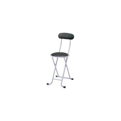 折りたたみ椅子 ブラック PEC-10(1コ入)