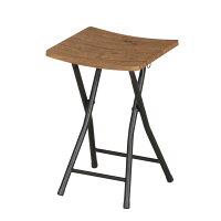 フォールディングスツール 座面高さ46cm スツール 折りたたみ 木目柄 椅子 PFC-VS1