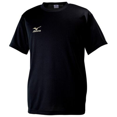 mizuno/ミズノ 32JA6150-90 クロスティック Tシャツ メンズ ブラック×ゴールド