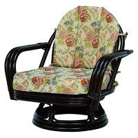 回転座椅子(ダークブラウン) RZ-932DBR